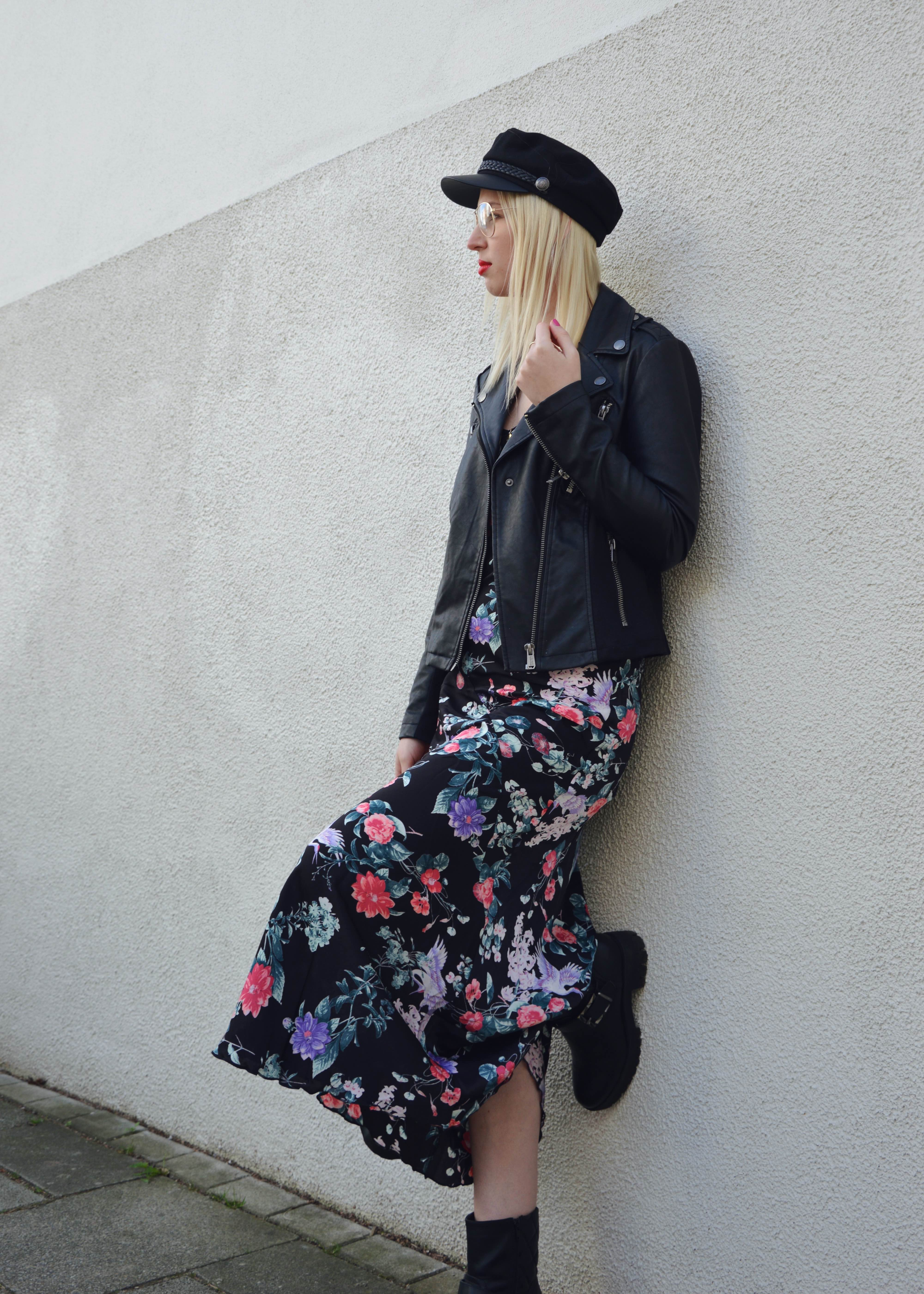 Flowerdress and Bikerjacket16