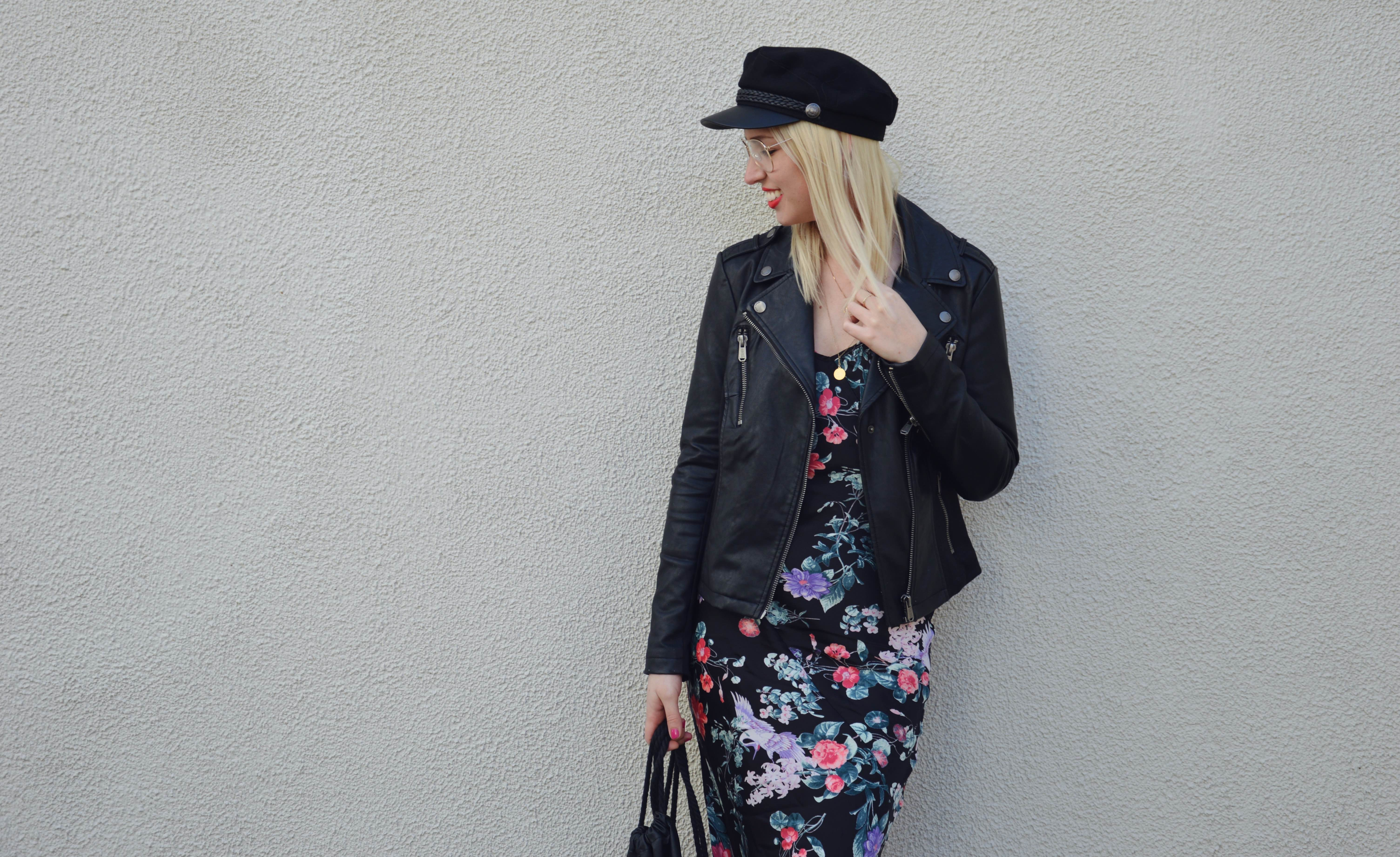 Flowerdress and Bikerjacket8